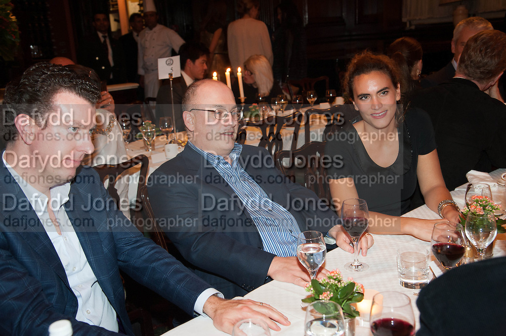 MICHAEL SULLIVAN;; STEVEN COHEN; KYVELI ALEXIOU, Opening of Morris Lewis: Cyprien Gaillard. From Wings to Fins, Sprüth Magers London Grafton St. London. Afterwards dinner at Simpson's-in-the-Strand hosted by Monika Spruth and Philomene Magers.