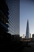 The Shard viewed from between the Northern and Shell Building and St Magnus House on Lower Thames Street in London, England, United Kingdom. (photo by Mike Kemp/In Pictures via Getty Images)