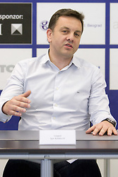 New head coach of ACH Volley Igor Kolakovic at  his introduction at press conference, on May 26, 2010 in ACH, Ljubljana, Slovenia. (Photo by Vid Ponikvar / Sportida)