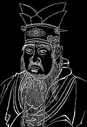 Confucius (551-479 BC) Chinese philosopher. From rubbing of a marble slab in Confucian temple.