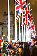 January 31, 2020, London, England, United Kingdom: Dozens of Brexit supporters celebrate Britain's departure from the EU in London, Friday, Jan. 31, 2020. (Credit Image: © Vedat Xhymshiti/ZUMA Wire)