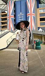 Flora Johnstone arriving during day one of Royal Ascot at Ascot Racecourse.
