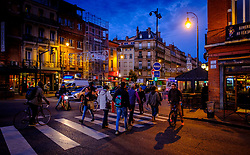 Night time street scene in Toulouse, France<br /> <br /> (c) Andrew Wilson | Edinburgh Elite media