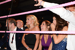 British fine jewellery brand Boodles welcomed guests for the 2013 Boodles Boxing Ball in aid of Starlight Children's Foundation held at the Grosvenor House Hotel, Park Lane, London on 21st September 2013.<br /> Picture Shows:-KATHERINE JENKINS and NATALIE PINKHAM watching the boxing<br /> <br /> Press release - https://www.dropbox.com/s/a3pygc5img14bxk/BBB_2013_press_release.pdf<br /> <br /> For Quotes  on the event call James Amos on 07747 615 003 or email jamesamos@boodles.com. For all other press enquiries please contact luciaroberts@boodles.com (0788 038 3003)