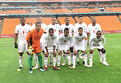 South Africa: Johannesburg: Seychelles players poses for photographs during the Africa Cup Of Nations qualifiers against Bafana Bafana at FNB stadium, Gauteng.<br />Picture: Itumeleng English/African News Agency (ANA)