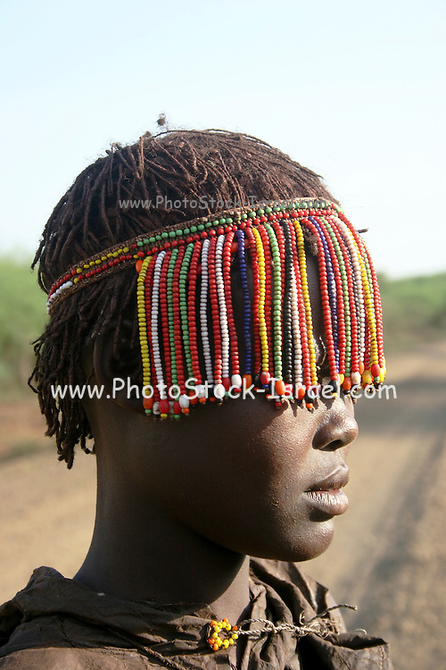 Coming of age ceremony Pokot tribe, Kenya. These young girls are being initiated into womanhood