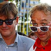 NLD/Utrecht/20100903 - Premiere Queen musical We Will Rock You, Jon van Eerd en partner Ton Fiere