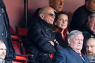 Richard Murray, Charlton Athletic Chairman looks on from the stands. Skybet football league championship match, Charlton Athletic v Brighton & Hove Albion at The Valley  in London on Saturday 23rd April 2016.<br /> pic by John Patrick Fletcher, Andrew Orchard sports photography.