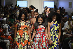 August 19, 2017 - Toronto, Ontario, Canada - Designer Ofuure, thanking the crowd during the African Fashion Week in Toronto, Canada on 19 August 2017. (Credit Image: © Arindam Shivaani/NurPhoto via ZUMA Press)
