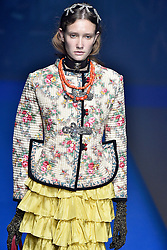 Model Sofie Van den Bogaert walks on the runway during the Gucci Fashion Show during Milan Fashion Week Spring Summer 2018 held in Milan, Italy on September 20, 2017. (Photo by Jonas Gustavsson/Sipa USA)