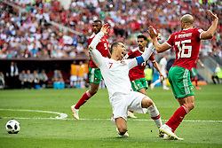 June 20, 2018 - Moscow, Russia - 180620 Cristiano Ronaldo of Portugal goes down during the FIFA World Cup group stage match between Portugal and Morocco on June 20, 2018 in Moscow..Photo: Petter Arvidson / BILDBYRÃ…N / kod PA / 92072 (Credit Image: © Petter Arvidson/Bildbyran via ZUMA Press)