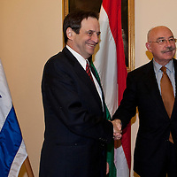 Dan Meridor (left) deputy prime minister of Israel meets Janos Martonyi (right) minister of foreing affairs of Hungary during his official visit in Budapest, Hungary on February 17, 2011. ATTILA VOLGYI