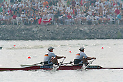 St Catherines, CANADA,  Women's Pair  Double Sculls GER W2X. Kathrin BORON and Jana THIEME, competing,  1999 World Rowing Championships - Martindale Pond, Ontario. 08.1999..[Mandatory Credit; Peter Spurrier/Intersport-images]  ... 1999 FISA. World Rowing Championships, St Catherines, CANADA