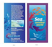 Sea. Another World! Located in St. Thomas, US Virgin Islands. Coral World Special Offer Coupon  Front and Back.