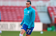 Blackburn Rovers defender Lewis Travis (27) warming up  during the EFL Sky Bet Championship match between Middlesbrough and Blackburn Rovers at the Riverside Stadium, Middlesbrough, England on 24 January 2021.