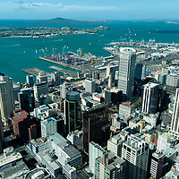 View of Auckland, seen from the Auckland Sky Tower.