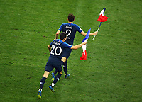 Florian Thauvin (France) and Benjamin Pavard (France) celebrate with the France flag on the pitch after the award ceremony<br /> Celebration Victory France <br /> Moscow 15-07-2018 Football FIFA World Cup Russia  2018 Final / Finale <br /> France - Croatia / Francia - Croazia <br /> Foto Matteo Ciambelli/Insidefoto