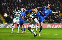 05/11/15 UEFA EUROPA LEAGUE GROUP STAGE<br /> CELTIC v MOLDE FK<br /> CELTIC PARK - GLASGOW<br /> Molde's Daniel Hestad (right) scores his side's second goal of the game
