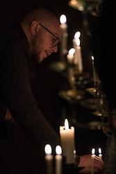 15 April 2017, Stockholm, Sweden: Easter midnight service in Kista Church, Church of Sweden. Here, Kekke Paulsson.