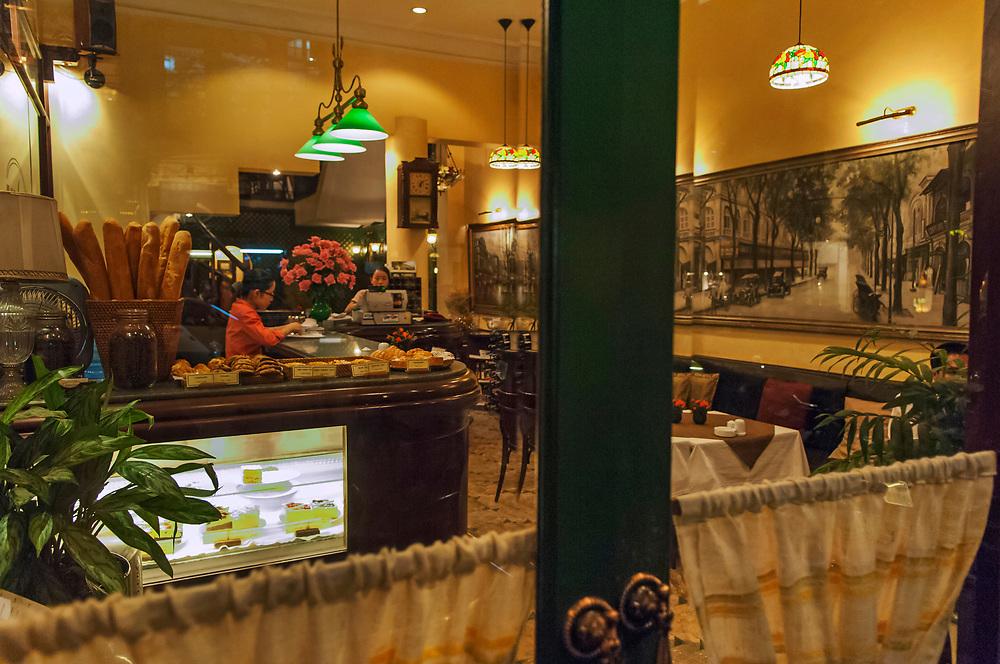 French style cafe,old quarter, Hanoi