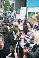 Around 1000 protesters gathered in Clayton Square Liverpool, to protest the  lockdown in Liverpool and across the UK,