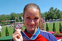 Friidrett<br /> EM U23 Debrechen<br /> 15.07.2007<br /> Foto: Hasse Sjøgren, Digitalsport<br /> NORWAY ONLY<br /> <br /> Christina Vukicevic med sølvmedaljen på 100 meter hekk
