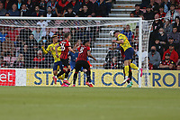 Football - 2021 / 2022 EFL Sky Bet Championship -AFC Bournemouth vs. West Bromwich Albion - The Vitality Stadium<br /> <br /> Dara O'Shea of West Bromwich Albion heads Albion level during the Championship match at the Vitality Stadium (Dean Court) Bournemouth  <br /> <br /> COLORSPORT/Shaun Boggust