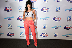 Halsey on the red carpet of the the media run during Capital's Summertime Ball. The world's biggest stars perform live for 80,000 Capital listeners at Wembley Stadium at the UK's biggest summer party.