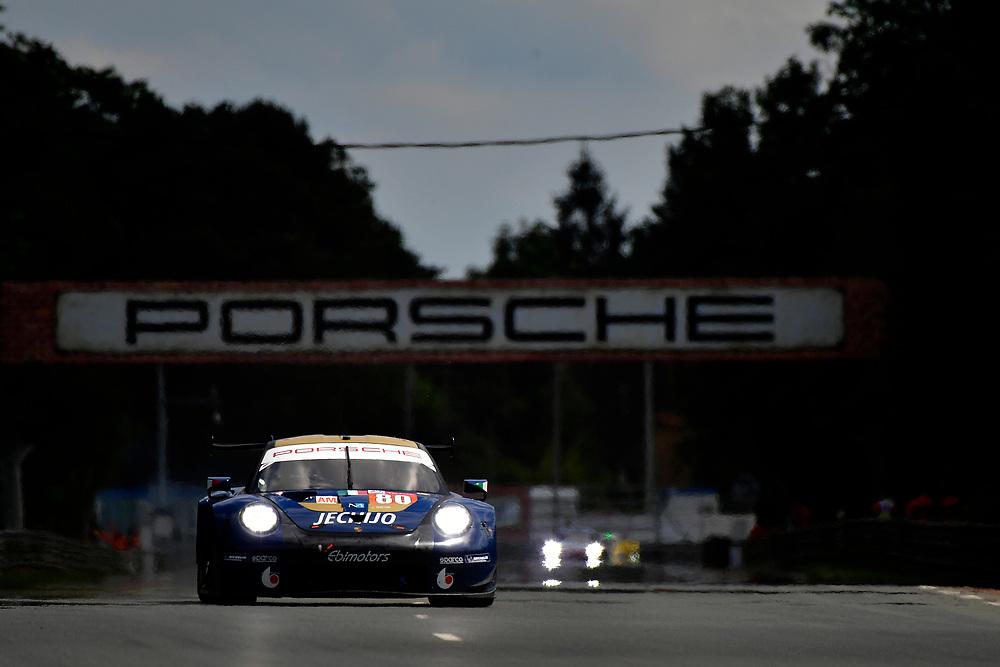 #80 Ebimotors Porsche 911 RSR: Fabio Babini, Christina Nielsen, Erik Maris<br /> Wednesday 13 June 2018<br /> 24 Hours of Le Mans<br /> 2018 24 Hours of Le Mans<br /> Circuit de la Sarthe  FR<br /> World Copyright: Scott R LePage