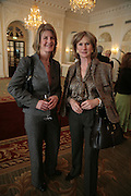 Jacquie Barnes and Hebe Buckley-Sharp, NCH Spring Ladies lunch. NCH, the children's charity, helps children and young people facing difficulties or challenges in their lives. Mandarin Oriental Hotel. 8 March 2007.  -DO NOT ARCHIVE-© Copyright Photograph by Dafydd Jones. 248 Clapham Rd. London SW9 0PZ. Tel 0207 820 0771. www.dafjones.com.