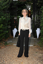 LADY VICTORIA GETTY leaving a summer party hosted by Lady Annabel Goldsmith at her home Ormeley Lodge, Ham Gate, Richmond on 13th July 2010.