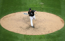August 21, 2017 - Chicago, IL, USA - Chicago White Sox starting pitcher Carlos Rodon (55) delivers a pitch against the Minnesota Twins during the fourth inning of their double header on Monday, Aug. 21, 2017 at Guaranteed Rate Field in Chicago, Ill. (Credit Image: © Nuccio Dinuzzo/TNS via ZUMA Wire)