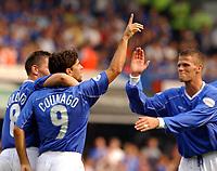 Fotball - England<br /> Sesongen 2002/2003<br /> Pablo Counago og Herman Hreidarsson (th) - Ipswich<br /> Foto: Roger Parker, Digitalsport
