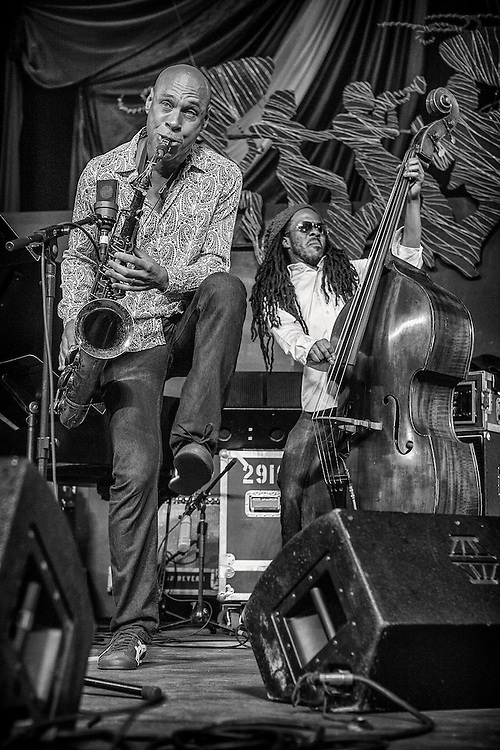 Joshua Redman performing on the WWOZ Jazz Tent Stage during the 2013 New Orleans Jazz & Heritage Music Festival on April 26, 2013 in New Orleans, Louisiana. USA.