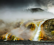 Flow from the Grand Prismatic Spring, Yellowstone National Park, September 2016