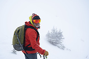 Colorado Sun reporter Jason Blevins accompanies Diamond Peaks Ski Patrol members on a duty day near Montgomery Pass, Feb. 6, 2021.