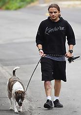Prince Jackson walks his pit bull terrier dog - 1 June 2020