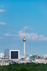 View of Fernsehturm or TV Tower in Berlin Germany