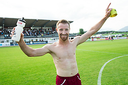 Vlado Smit of Triglav celebrates after winning during 2nd Leg football match between NK Triglav Kranj and NS Drava Ptuj in Qualifications of Prva Liga Telekom Slovenije 2018/19, on June 6, 2018 in Kranj, Slovenia. Photo by Vid Ponikvar / Sportida