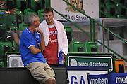 Sassari 14 Agosto 2012 - Qualificazioni Eurobasket 2013 -Allenamento<br /> Nella Foto : RICCARDO PITTIS STEFANO MANCINELLI<br /> Foto Ciamillo