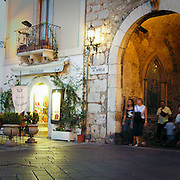 Piazza IX Aprile a Taormina..IX Aprile square in Taormina