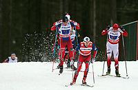 Langrenn<br /> FIS World Cup<br /> 18.01.2015<br /> Foto: Gepa/Digitalsport<br /> NORWAY ONLY<br /> <br /> OTEPÄÄ - ESTLAND<br /> <br /> FIS World Cup, team sprint, men. Image shows Pål Golberg, Finn Hågen Krogh (NOR) and Maciej Starega (POL).