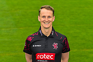 Head shot.  Max Waller wearing the Somerset Royal London One-Day Cup kit at the media day at Somerset County Cricket Club at the Cooper Associates County Ground, Taunton, United Kingdom on 11 April 2018. Picture by Graham Hunt.