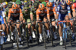 October 9, 2016 - Tours, FRANCE - TOURS, FRANCE - OCTOBER 9 : Team ROOMPOT - ORANJE PELOTON in action during  the 110th edition of the Paris-Tours cycling race with start in Dreux and finish in Tours on October 09, 2016 in Tours, France, 9/10/2016 (Credit Image: © Panoramic via ZUMA Press)