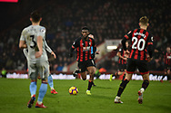 AFC Bournemouth Midfielder, Jefferson Lerma (8) brings the ball forward during the Premier League match between Bournemouth and West Ham United at the Vitality Stadium, Bournemouth, England on 19 January 2019.