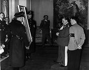 Hermann Goering shows a confiscated painting to German Leader Adolf Hitler circa 1940