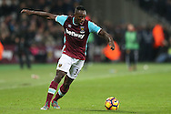 Michail Antonio of West Ham United in action. Premier league match, West Ham Utd v Manchester Utd at the London Stadium, Queen Elizabeth Olympic Park in London on Monday 2nd January 2017.<br /> pic by John Patrick Fletcher, Andrew Orchard sports photography.