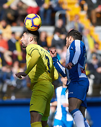 February 3, 2019 - Villarreal, Castellon, Spain - Alvaro Gonzalez of Villarreal and Pablo Piatti of RCD Espanyol during the La Liga match between Villarreal and Espanyol at Estadio de la Ceramica on February 3, 2019 in Vila-real, Spain. (Credit Image: © Maria Jose Segovia/NurPhoto via ZUMA Press)