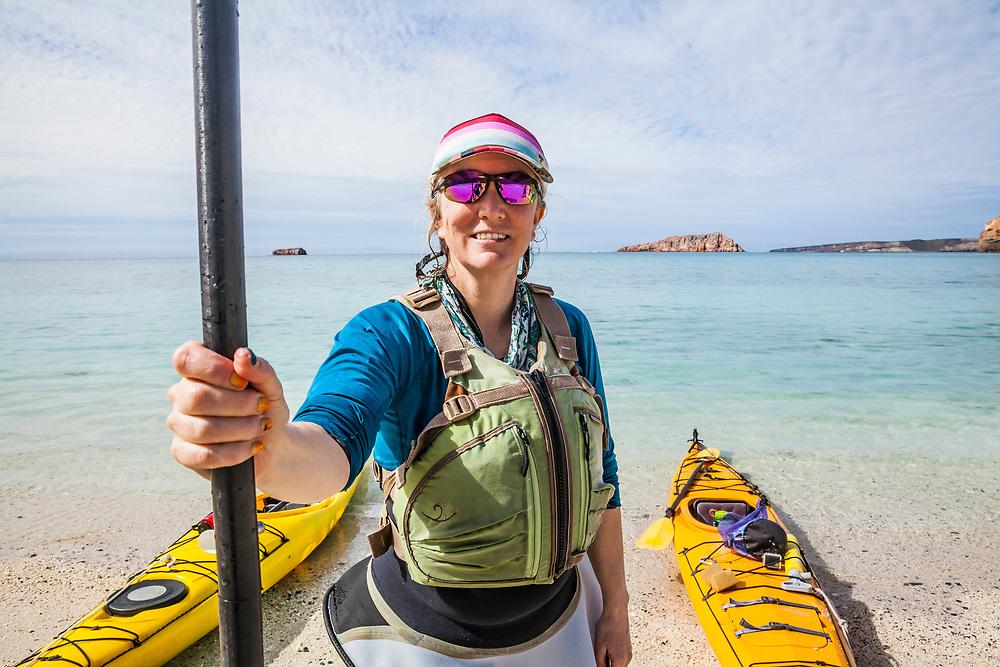 @amywormsworld ready to kayak. #TravelLifestyle #Portrait #OnTheBeach, Isla Espiritu Santo, day 2.