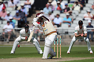 Northants Steelbacks Rob Newton  during the Specsavers County Champ Div 2 match between Lancashire County Cricket Club and Northamptonshire County Cricket Club at the Emirates, Old Trafford, Manchester, United Kingdom on 14 May 2019.